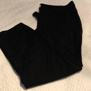 Black pixie cut pants